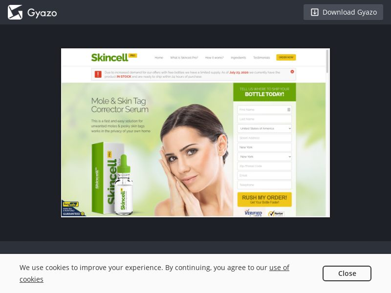 Skincell Pro (US, CA, IE) (CPS) (Personal Approval)