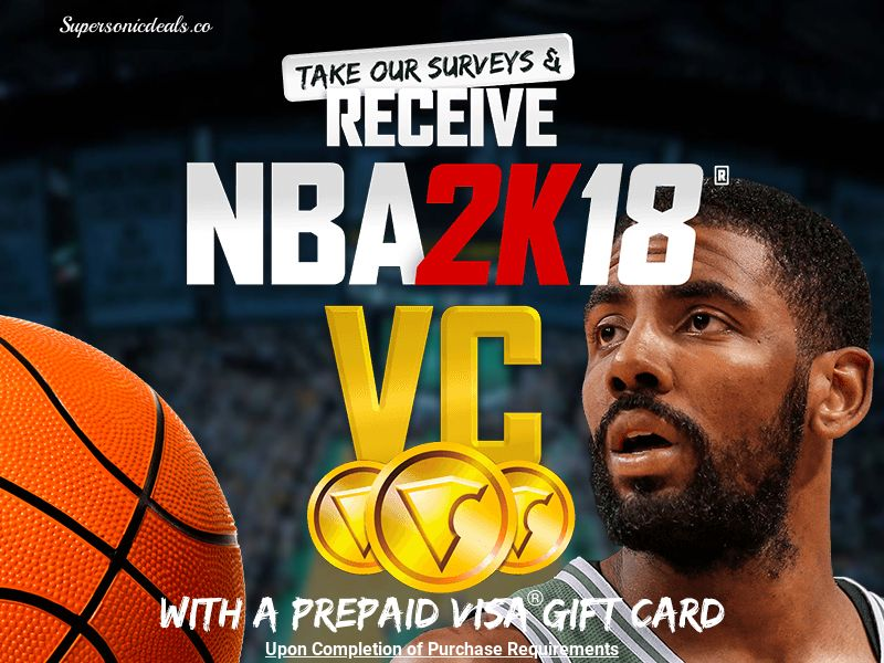 SuperSonicDeals NBA 2K18 Visa Gift Card - Email Submit - Incent