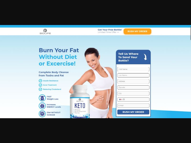 BioLife Keto - Diet & Weight Loss - Trial - [FR] - with 1-Click Upsell [Step1 $23.4 / Upsell $23.4]