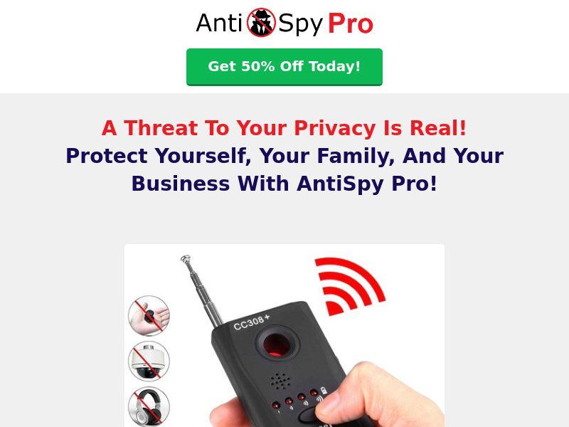 AntiSpy Pro - Pre LP - BestDealToday