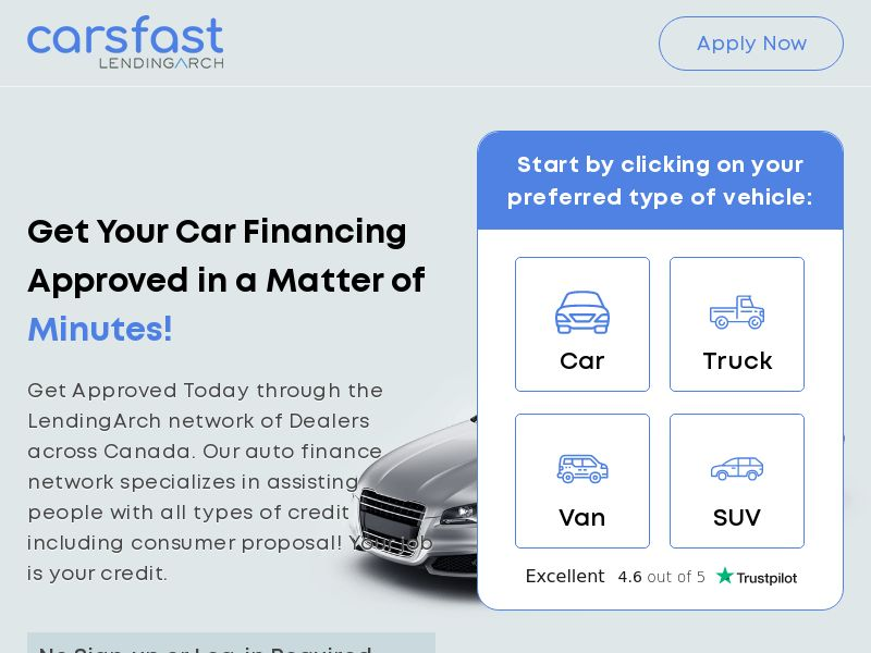 Carsfast - AutoLoan - CA - CPL (Approval Only)