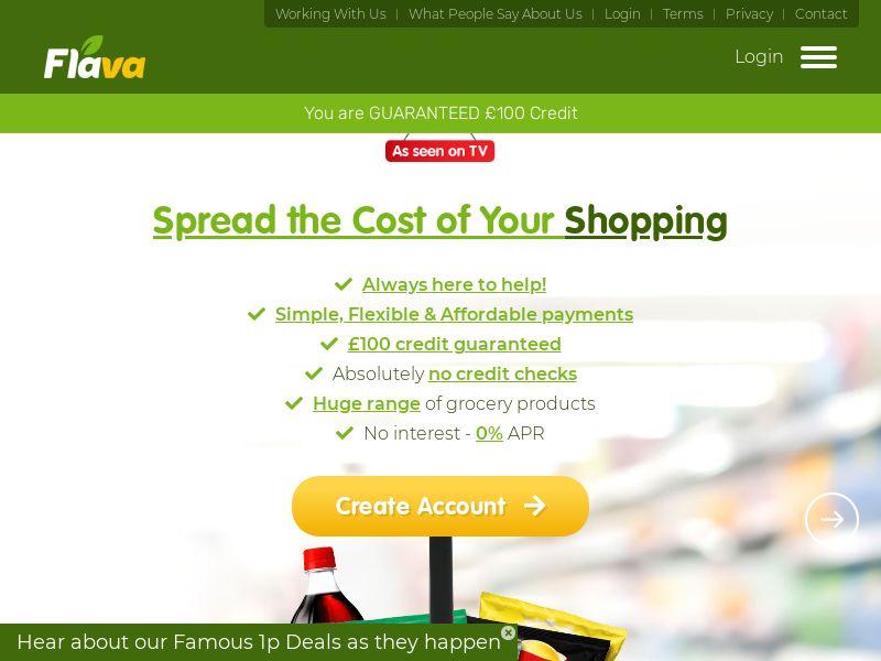 Flava - Supermarket Shopping on Credit - CPA - UK