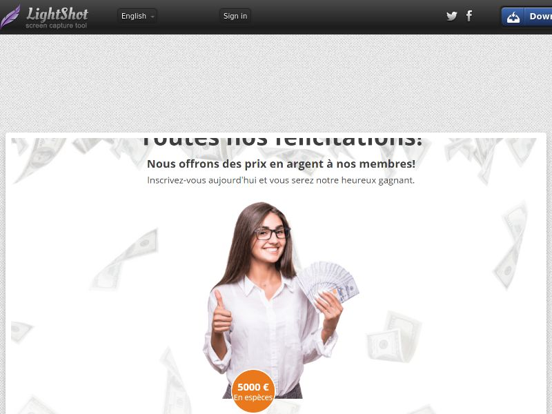 Cashgiveaway - Win €5000 (FR) (CPS) (Personal Approval)