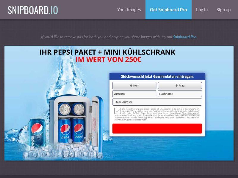 Pepsi Fridge 2020 Sweeps - DE - Incent OK