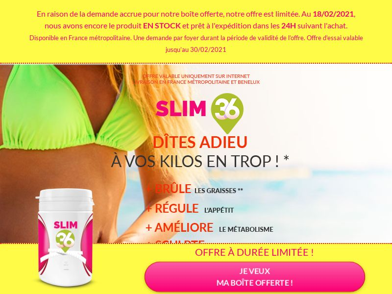 Slim36 [DIET] - CPA - Trial - France [Monthly net15 payment]