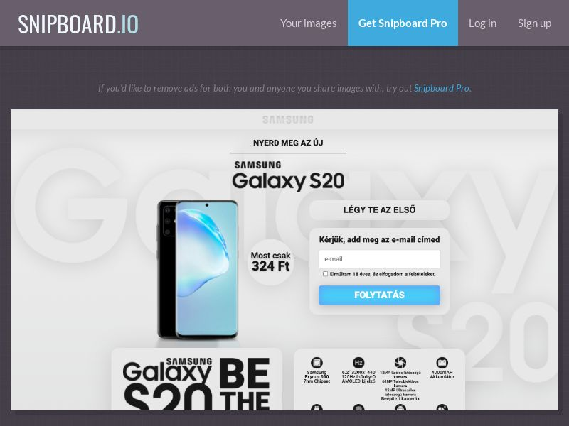 37407 - HU - CreditSupport - Samsung Galaxy S20 (Grey) - CC submit