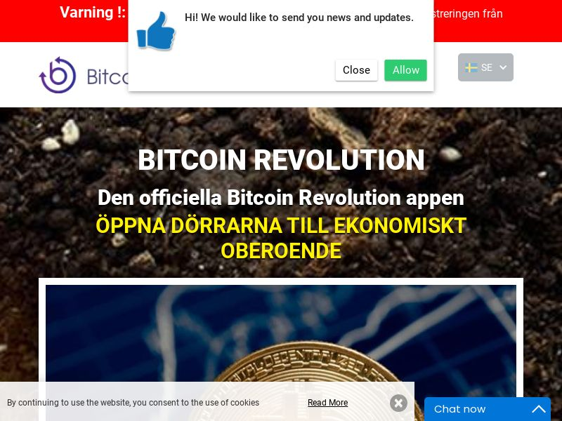 Bitcoin Revolution - SE (SE), [CPA], Business, Investment platforms, Cryptocurrencies, Deposit Payment, bitcoin, cryptocurrency, finance, money