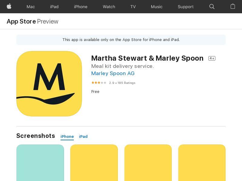 Marley Spoon IOS DK