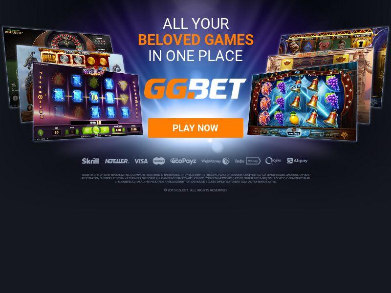 GG.bet - Casino - CPA - Desktop & Mobile - HU, RO, LT, LV, SK, SI