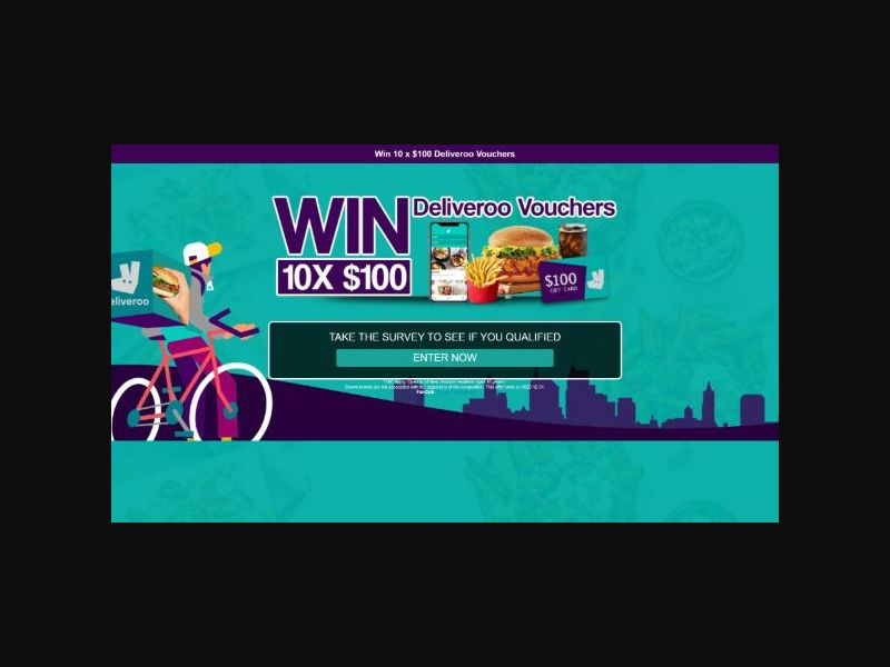 Win $100 Deliveroo Voucher - AU