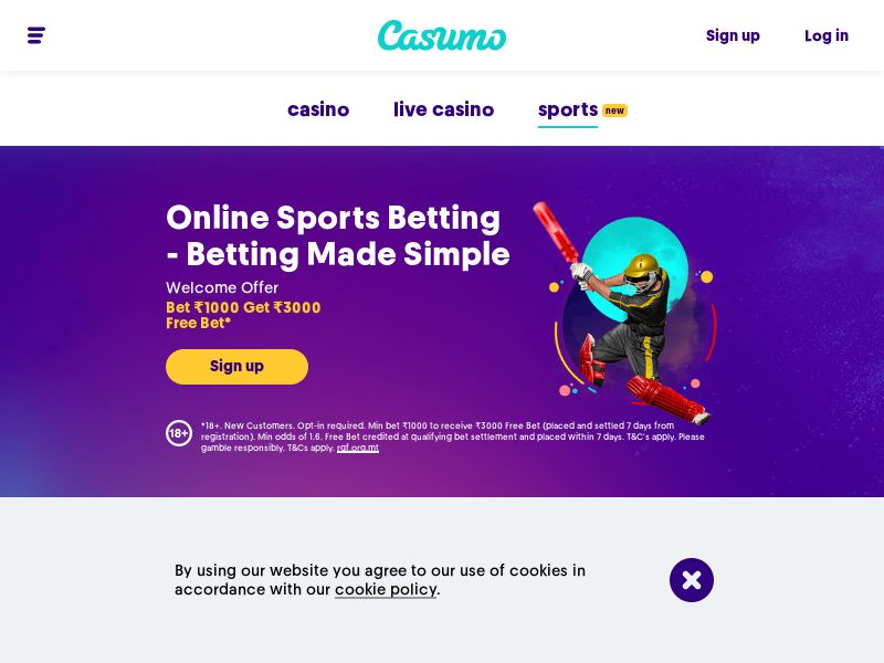 Casumo - Online sports betting - INCENT - NO