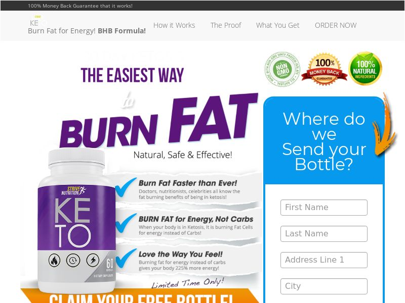 Strive Nutrition Keto Trial - US