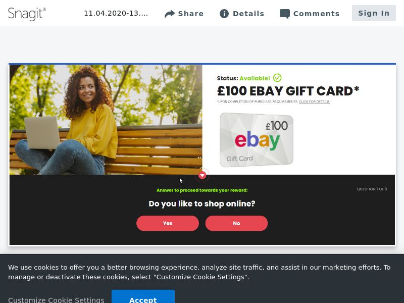 Ebay £100 GC - SOI - UK