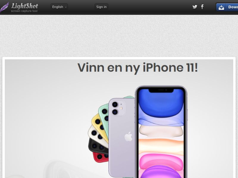 Online Tester iPhone 11 (Short Flow) (Sweepstake) (SOI) - Sweden