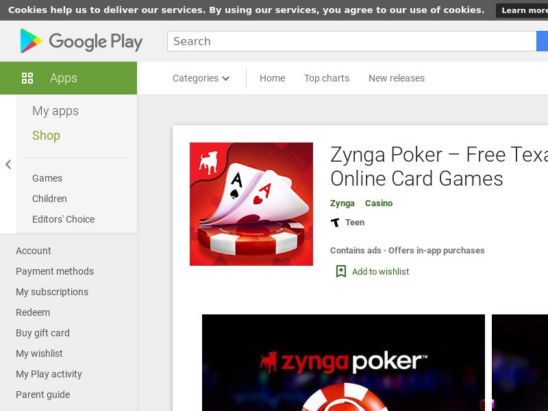 Zynga Poker – Texas Holdem Android DE HARD KPI Non-incent