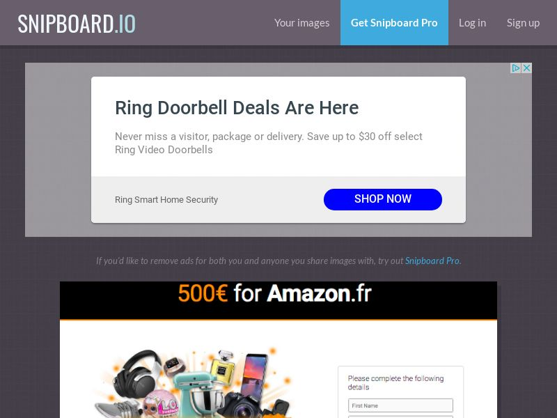 G33K Premium - Amazon Giftcard FR - CC Submit