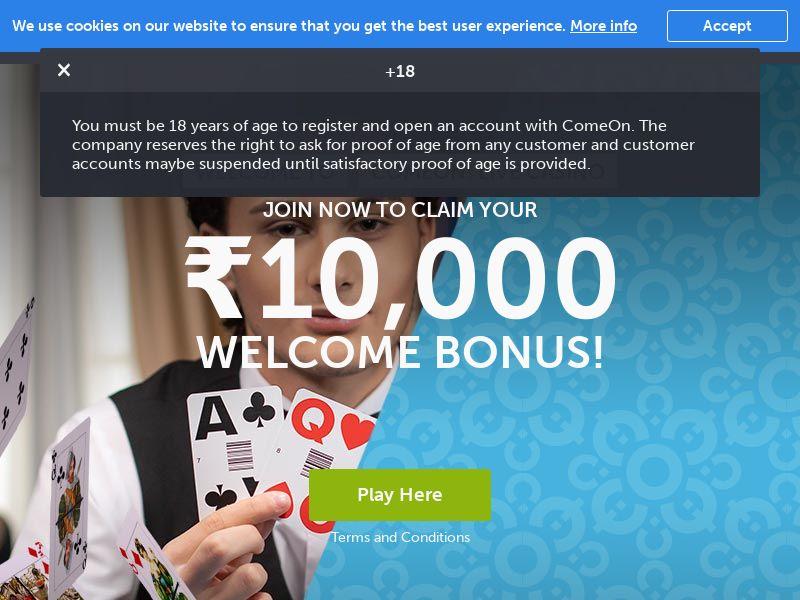 Comeon Casino CPA - India