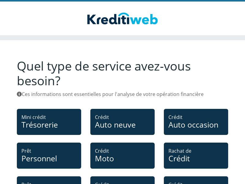 KreditiWeb - Personal Loans - CPL - [FR]