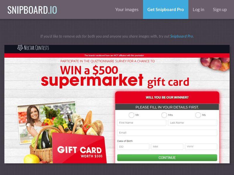 37775 - AU - NectarContests - Coles Supermarket (No Prelander) - SOI