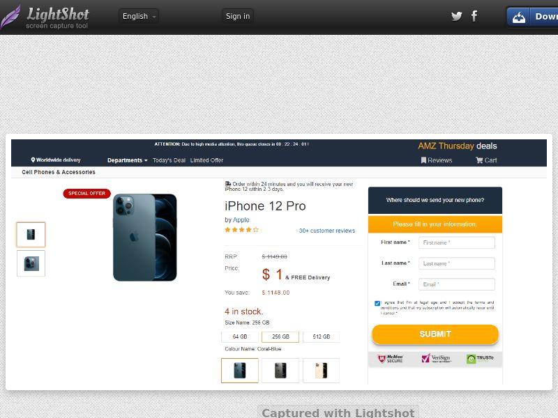 Socialmediago - iPhone 12 Pro - Amazon LP (IT) (Trial) (Personal Approval)