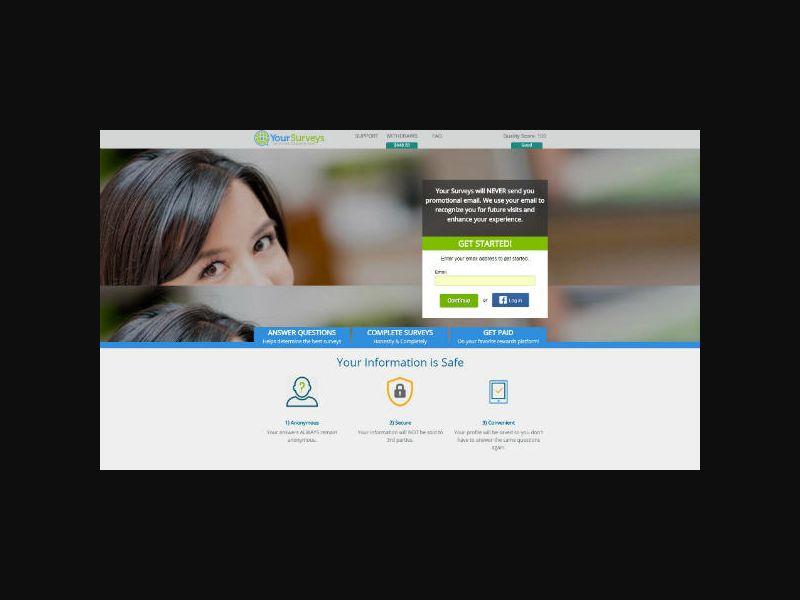 Your-Surveys.com (MX) Incentive