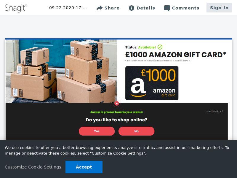 Amazon £1000 - SOI   UK