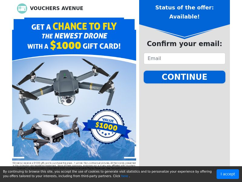 Vouchers Avenue - Fly the newest Drone