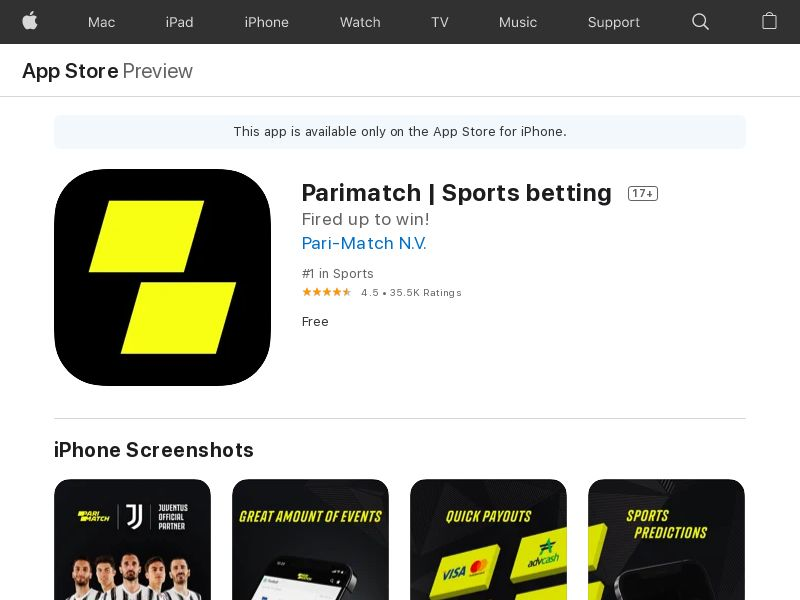 Parimatch - UA - iOS - HARD KPI