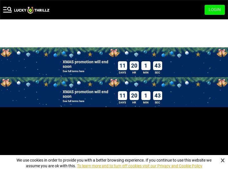Lucky Thrillz | Minimum FTD (no baseline) | CA, FI, NL, NZ
