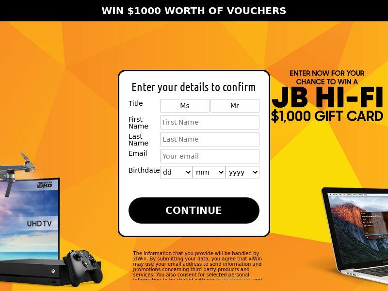 Win $1000 Worth Of Vouchers - SOI | AU