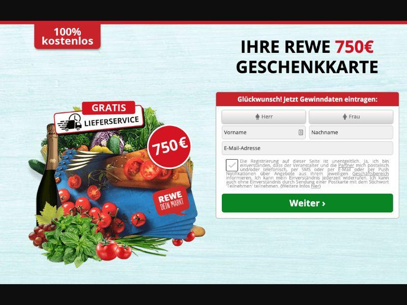 Win REWE 750 Eur [DE] - SOI registration