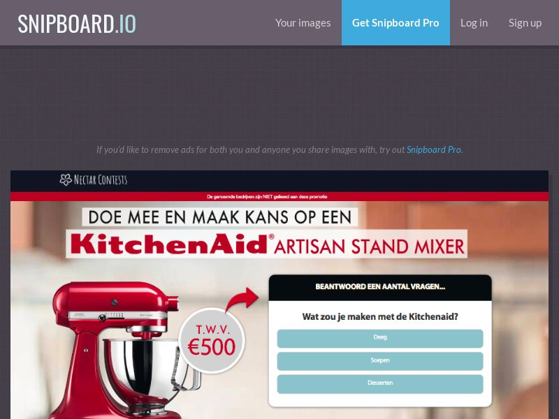 NectarContests - KitchenAid (NL) (CPL) (Personal Approval)