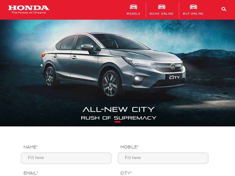 HondaCarIndia.com City CPL - India