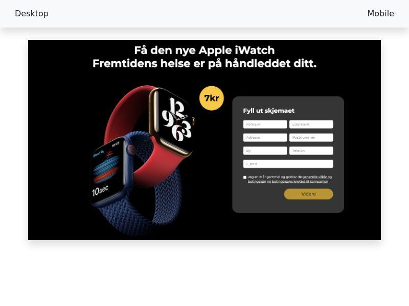 Apple iWatch - [CC-Submit] - [NO]