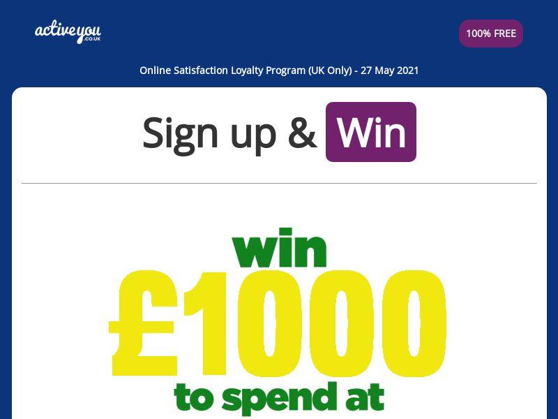 ActiveYou - Win £1000 ASDA Vouchers [UK]