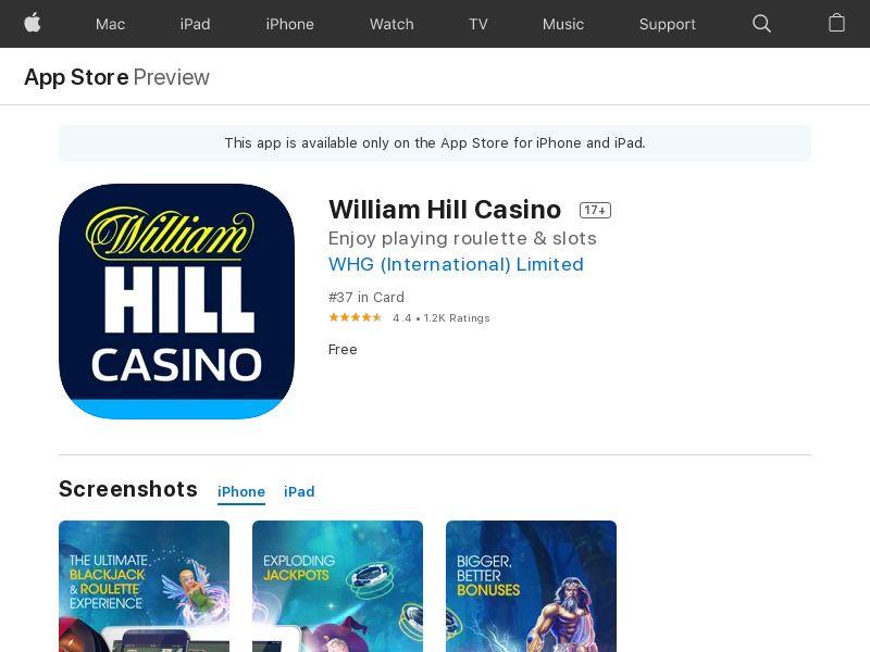William Hill Casino IOS UK CPI
