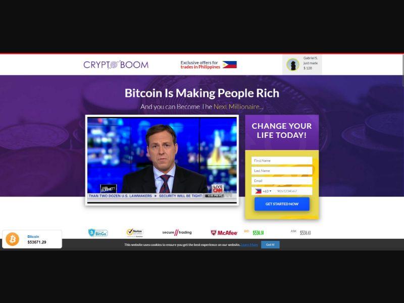 Crypto Boom - $250 min CTC - VSL - Crypto - SS - [50 GEOs]