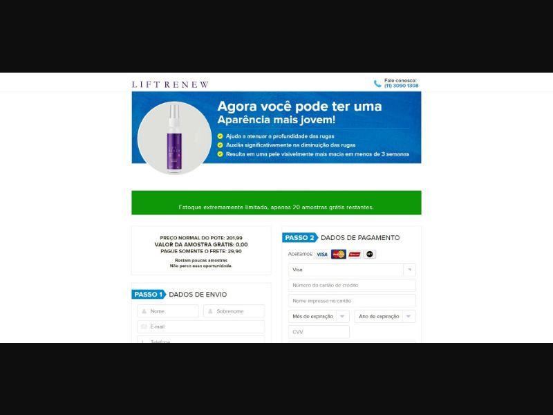Lift Renew Anti Aging Serum - Skin Care - Trial - [BR]