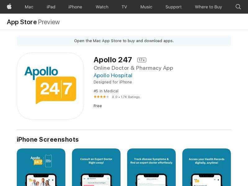 Apollo 247 CPA (iPhone 10.0+, iPad 10.0+) IN - Non incent
