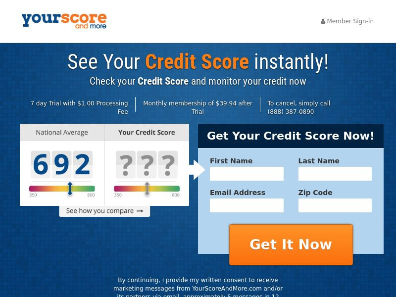Credit - Your Score and More - Lower CTC (US)
