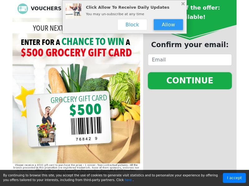 Free $500 Groceries - US