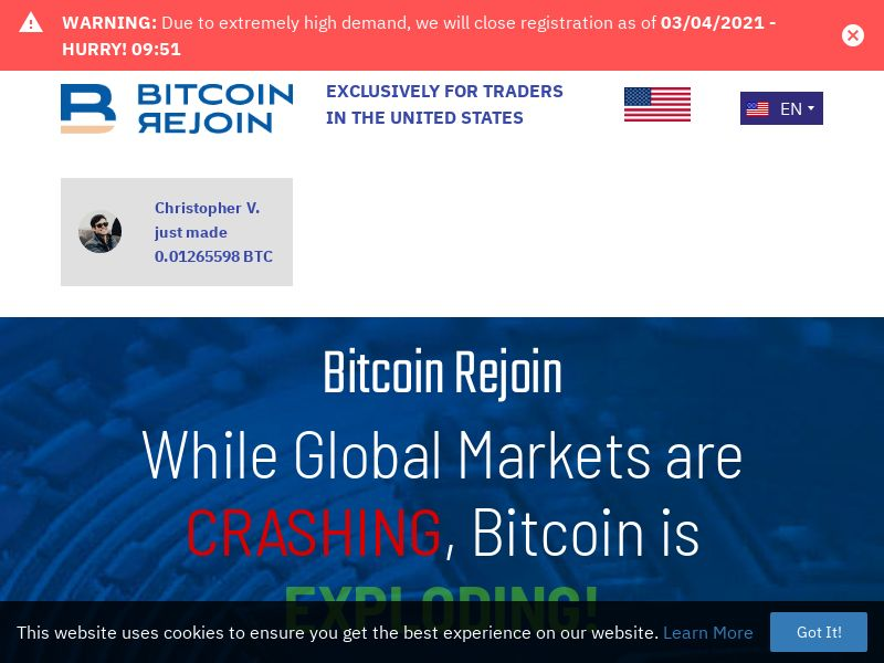 Bitcoin Rejoin - Smartlink - 58 Countries