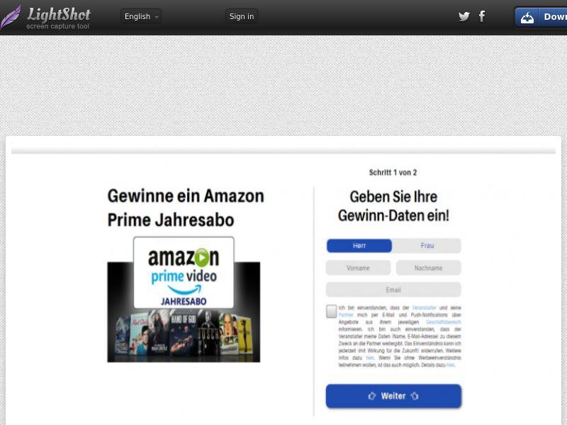 Lemon - Win Amazon Prime (DE) (CPL) (Personal Approval)
