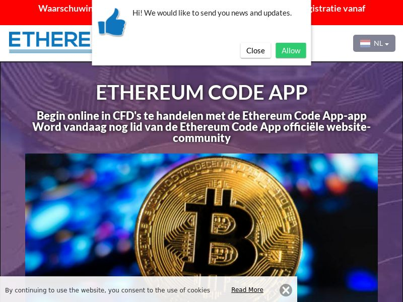 Ethereum Code App Dutch 3285