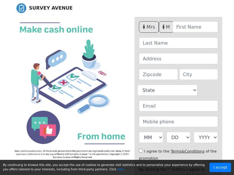 US - Survey Avenue - Paid surveys