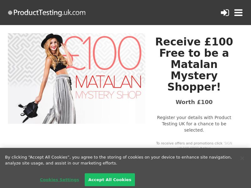 Email Submit - £100 Matalan Mystery Shopper - SOI (UK)