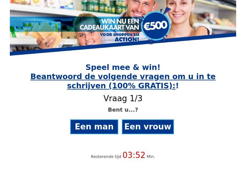 12461) [WEB+WAP] Action voucher €500 - BE(NL) - CPL