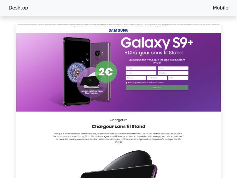 Samsung - Galaxy S9 plus - СС-submit [FR]