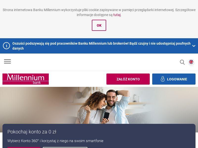 Millennium Bank Konto360 PL CPS + CPA