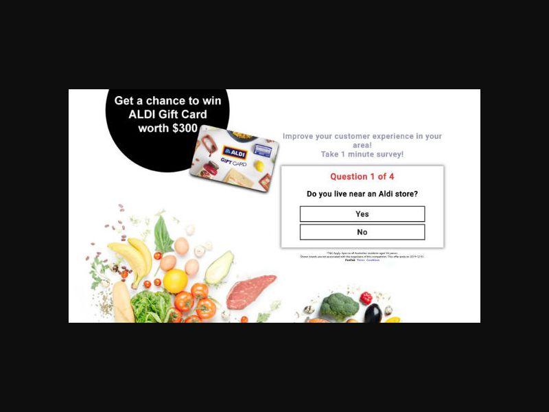 Win a $300 Aldi Gift Card (AU)